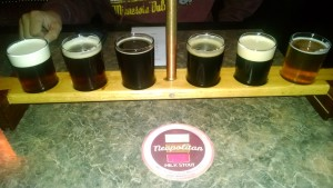 Saugatuck Brewing Company Neapolitan Flight