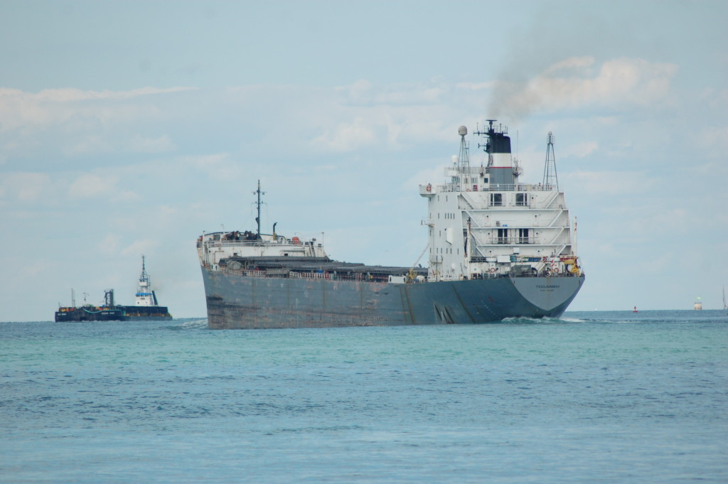Tecumseh (Lower Lakes Towing) upbound in the Detroit River