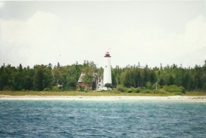 St. Helena Island Lighthouse, west of St. Ignace