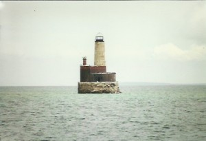 Waugoshance Shoal Light, west of Mackinaw City