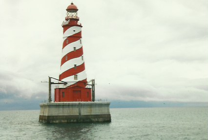 White Shoal Light, west of Mackinac Bridge