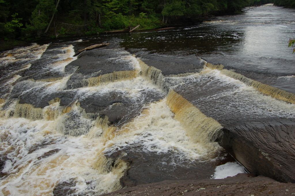 Above Manido Falls, Presque Isle River