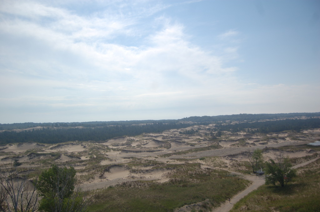 View of dunes from Big Sable Lighthouse tower