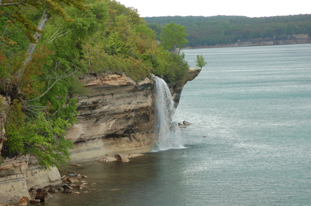 Spray Falls Pictured Rocks