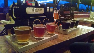 The Filling Station Microbrewery Beer Flight