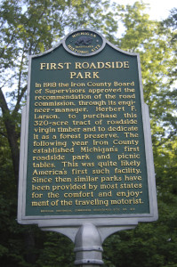 First Roadside Park Historic Marker