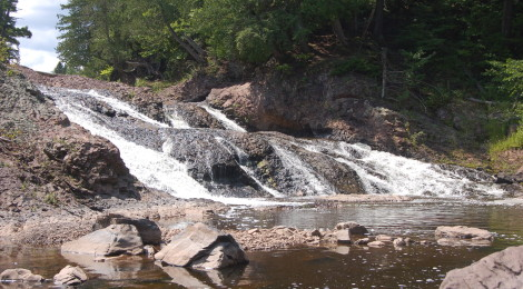 Great Conglomerate Falls - Black River Scenic Byway, Gogebic County