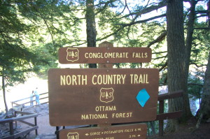 Great Conglomerate Falls Sign