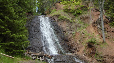 Haven Falls - A Roadside Waterfall In Michigan's Keweenaw Peninsula