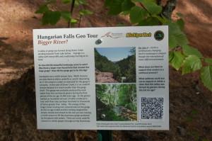 Hungarian Falls Sign Michigan Tech