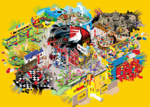 Legoland Kansas City Map of Layout