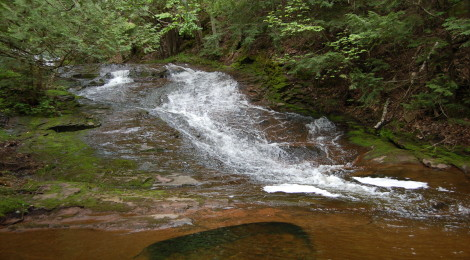 Little Union Gorge Falls - An Easy to Visit Waterfall in Porcupine Mountains Wilderness State Park
