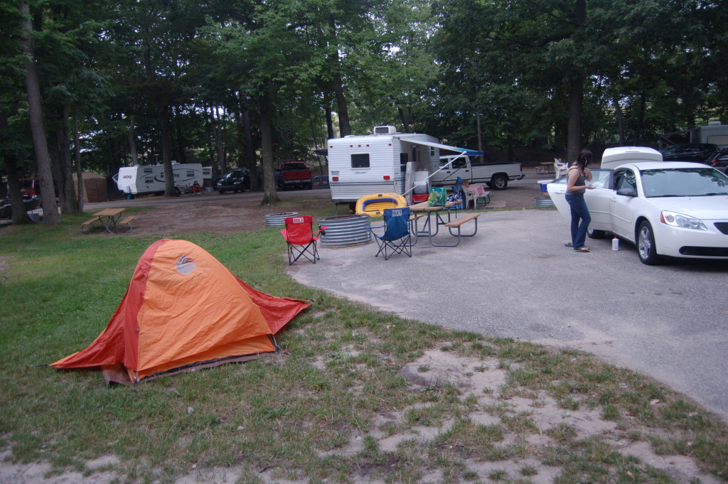 Campsite in the Pines campground