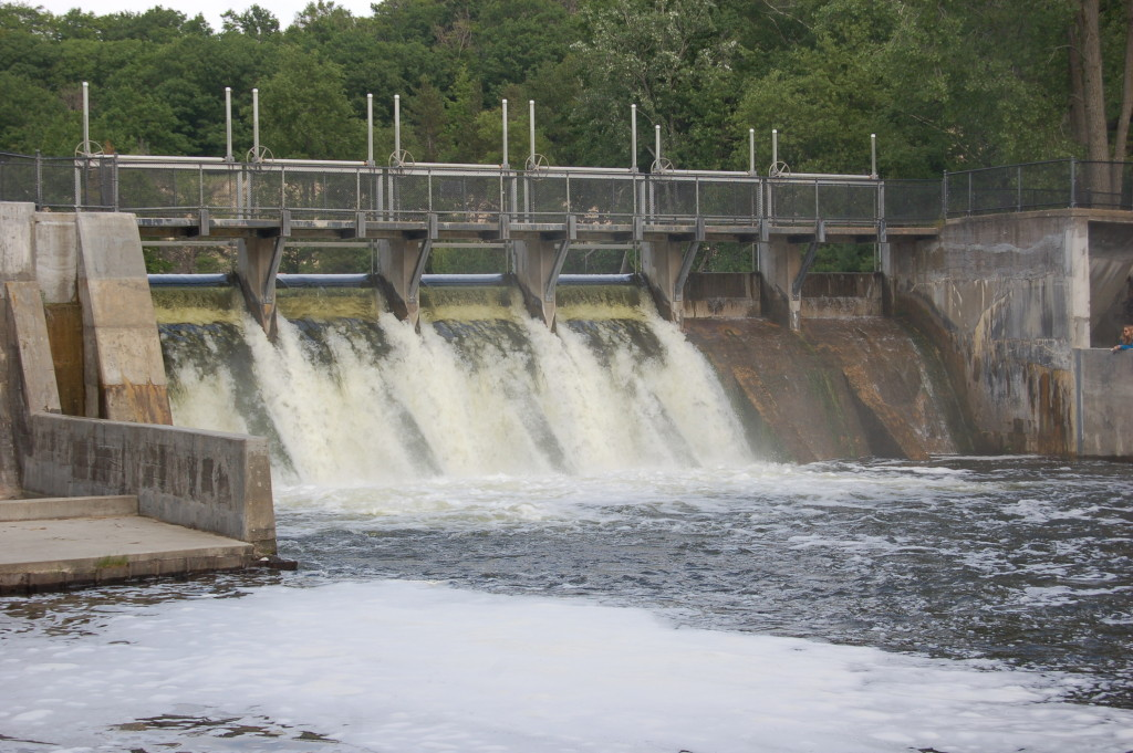 Hamlin Dam, a popular fishing spot