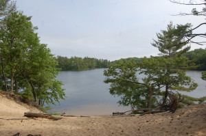 Ludington State Park Hike Lake