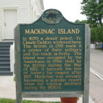 Mackinac Island's Michigan Historical Markers