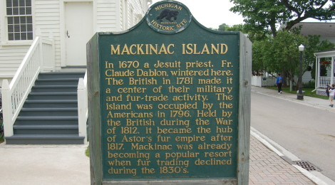 Mackinac Island's Michigan Historical Markers