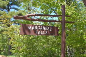 Manganese Falls Sign Copper Harbor