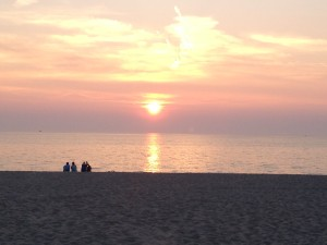 Sunset at Oval Beach in Saugatuck (Photo supplied by William Hess)