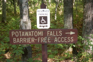 Potawatomi Falls Handicap Accessible Waterfall