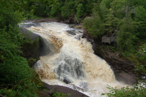 Rainbow Falls Black River Michigan