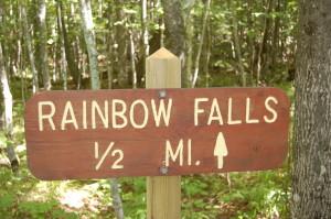 Rainbow Falls Sign
