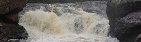 Sandstone Falls - Black River Scenic Byway, Gogebic County