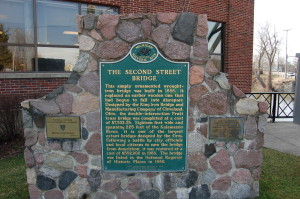 Second Street Bridge Marker