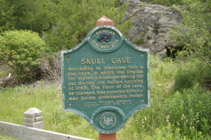 Skull Cave Michigan Historical Markers