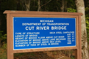 Cur River Bridge Sign
