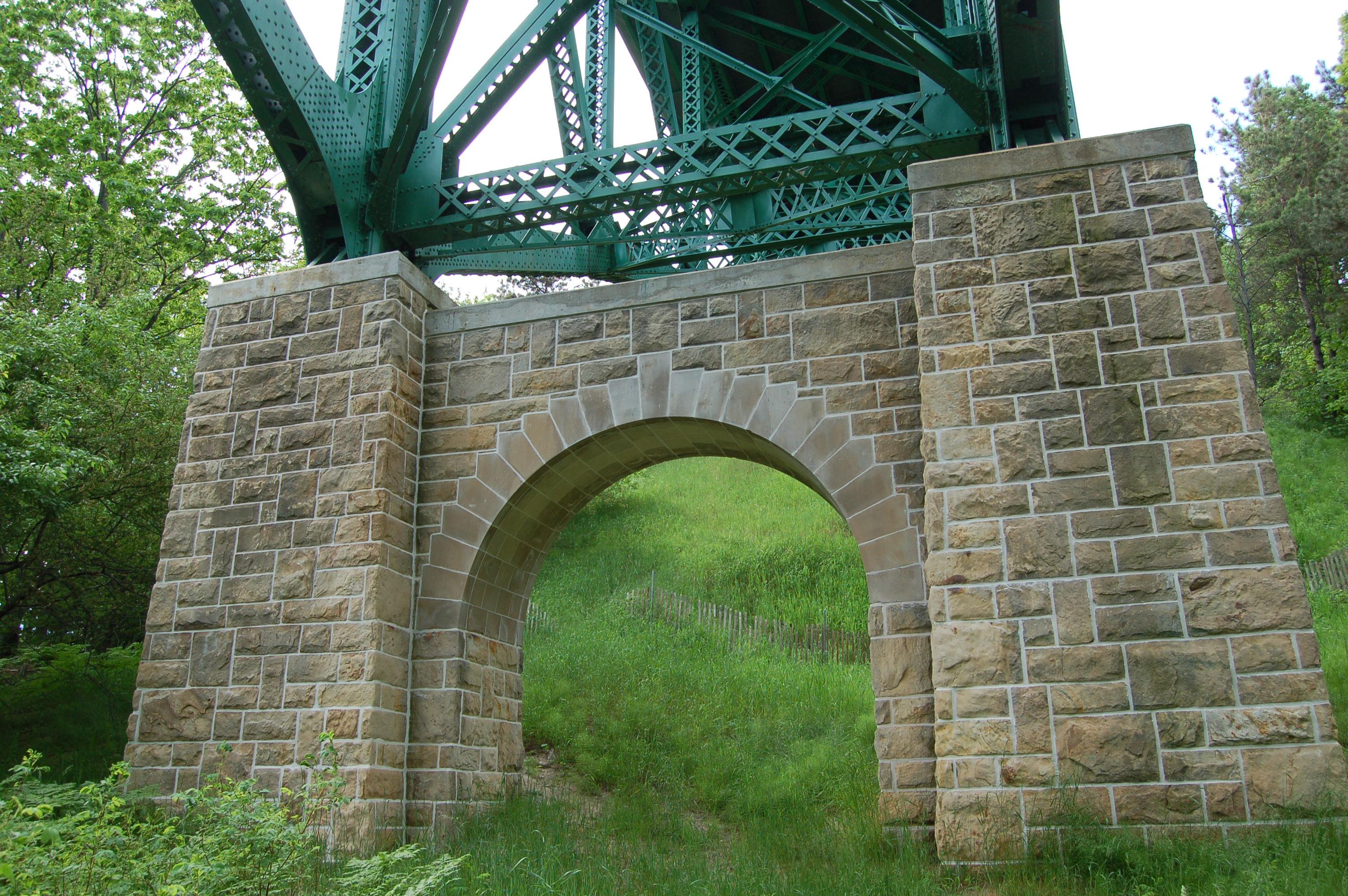 Cut River Bridge Stone Base
