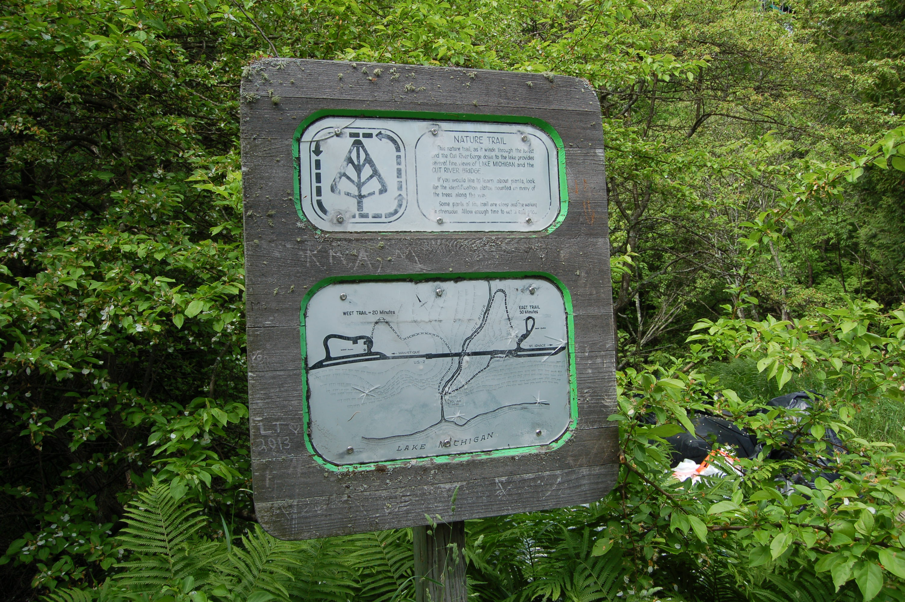 Cut River Bridge Trail Map