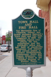 Hancock Town Hall Marker Michigan