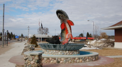 Michigan Roadside Attractions: National Trout Memorial in Kalkaska