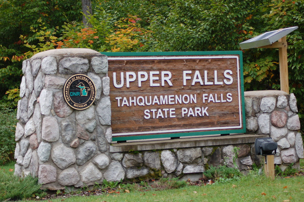 Tahquamenon Falls Sign