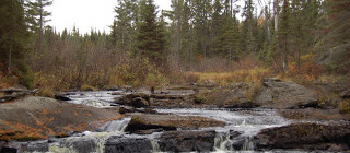 Tioga Rest Area Falls - Baraga County