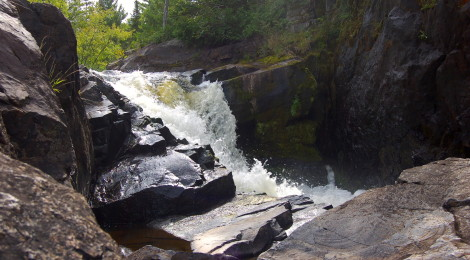 Yondota Falls - A Scenic Michigan Waterfall in the Ottawa National Forest