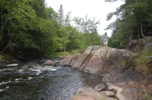 Yondota Falls Rocks Presque Isle River