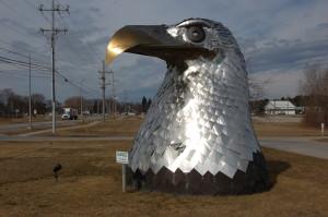 Alpena MI Eagle Steel Statue