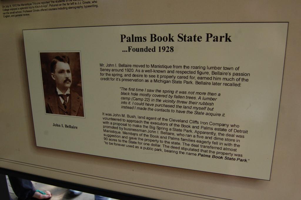 Bellaire history Palms Book State Park