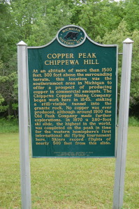 Copper Peak Historical Marker