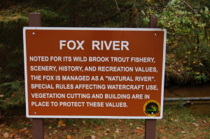 Fox River Informational Sign Hemingway Michigan
