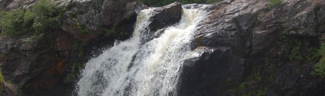 Gabbro Falls on the Black River - A Stunning and Wild Gogebic County Waterfall