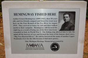 Hemingway Fished Here Marker