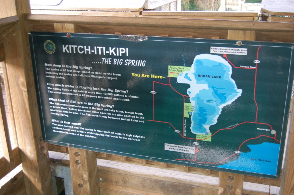 Kitch-iti-kipi sign Big Spring MI