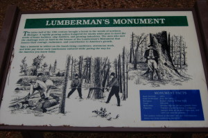 Lumberman's Monument Sign Oscoda