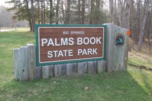 Palms Book State Park Sign - Big Spring Kitch-iti-kipi