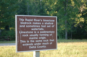 Rapid River Falls Sign