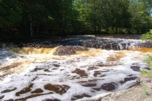 Spring Rapid River Falls