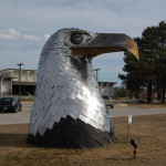 Michigan Roadside Attractions: Stainless Steel Eagle by Tom Moran – Alpena
